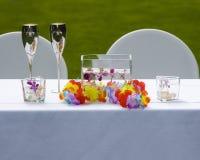 таблица groom невесты Стоковое фото RF