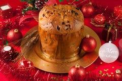 таблица panettone рождества Стоковые Фотографии RF