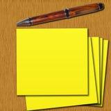 таблица postit Стоковые Фотографии RF