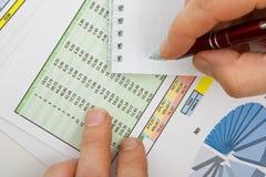 таблицы диаграмм документов Стоковое фото RF