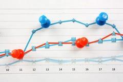 таблицы диаграмм документов Стоковая Фотография RF