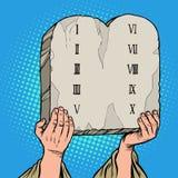 Таблицы договоренности 10 заповедей Моисея иллюстрация штока
