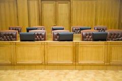 таблицы конференц-залов кресел кожаные Стоковые Фотографии RF