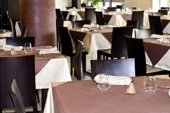 Таблицы на ресторане Стоковое фото RF