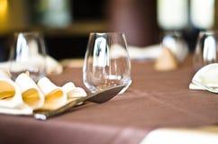 Таблицы на ресторане Стоковые Изображения RF