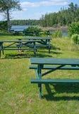 Таблицы пикника Стоковая Фотография RF