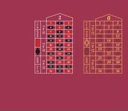 таблицы рулетки игры иллюстрация вектора