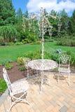 таблицы сада стулов Стоковые Фотографии RF