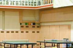 Таблицы тенниса в спортзале Стоковые Изображения