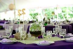 таблицы wedding Стоковая Фотография