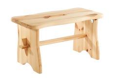 Табуретка сделанная из естественной изолированной древесины на белизне Стоковые Фото