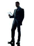 Таблетка бизнесмена цифровая Стоковое Изображение RF