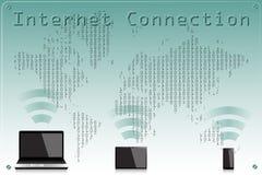 Таблетка и телефон ПК интернет-связи Стоковые Фото