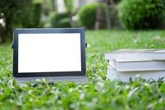 Таблетка на траве Стоковая Фотография