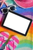 Таблетка с пустым экраном Стоковое фото RF