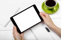 таблетка экрана икон компьютера установленная Стоковое Фото