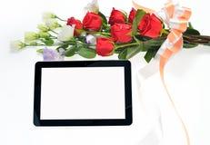 таблетка экрана икон компьютера установленная Стоковые Изображения