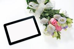 таблетка экрана икон компьютера установленная Стоковое Изображение