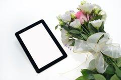 таблетка экрана икон компьютера установленная Стоковая Фотография RF