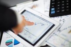 таблетка экрана икон компьютера установленная Стоковая Фотография