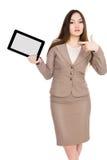 таблетка экрана икон компьютера установленная Стоковые Изображения RF
