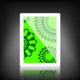 таблетка экрана икон компьютера установленная Стоковое Изображение RF