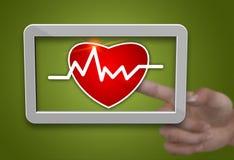 Таблетка Cardiogram Стоковые Фотографии RF
