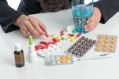 Таблетки взятия Стоковые Изображения RF