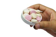 Таблетки витамин C в наличии Стоковая Фотография
