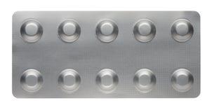 Таблетки в алюминиевых панелях стоковое фото rf