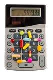 Таблетки и калькуляторы стоковые фото