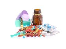Таблетки и пилюльки Стоковое Изображение