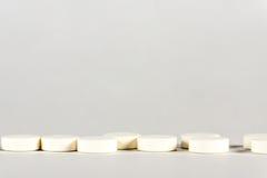 таблетки Медицина для входа Оно выпущено согласно рецепту доктора Стоковое Фото
