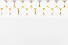 таблетки Медицина для входа Оно выпущено согласно рецепту доктора стоковое изображение