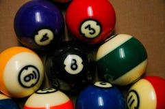 таблица бассеина биллиарда шариков Стоковое Фото