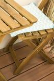 таблица деревянная Стоковое Изображение