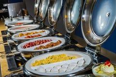 таблица еды рыб сыра шведского стола быстрая Стоковые Изображения