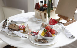 Таблица завтрака гостиницы Стоковое Изображение