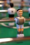 таблица 2 игроков изолята футбольной игры стоковые изображения