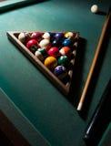 таблица игры биллиарда начала Стоковая Фотография