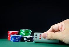 Таблица казино Стоковое Изображение RF