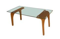 таблица кафа изолированная стеклом Стоковые Изображения RF