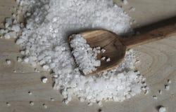 таблица моря соли деревянная Стоковая Фотография RF