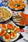 Таблица Нового Года праздничная Стоковые Фотографии RF