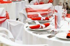 таблица обеда шикарная Стоковая Фотография