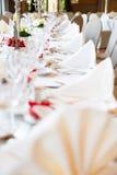 Таблица свадьбы Стоковая Фотография RF
