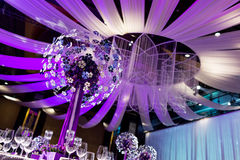 Таблица свадьбы стоковые фото