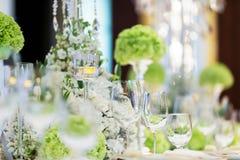 Таблица свадьбы Стоковое фото RF