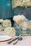 Таблица свадьбы Стоковое Фото