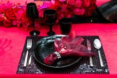Таблица свадьбы Стоковая Фотография